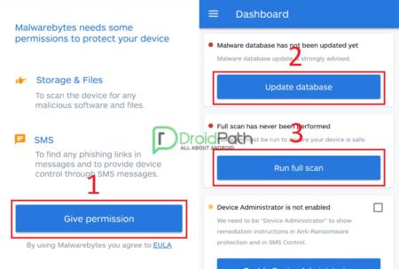 Cara Menghilangkan Iklan di Android Dengan Aplikasi Malwarebytes Security Permision, Update
