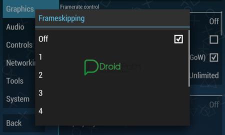 cara setting emulator ppspp frameskiping