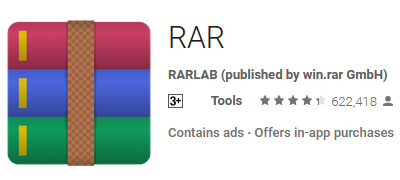 rar on google playstore