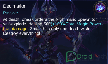 zhask mobile legends skill decimation