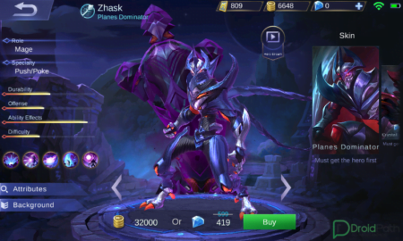 zhask mobile legends skin planes dominator